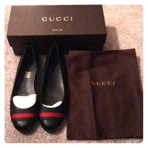 Women's Gucci Ballet Flats only worn once!